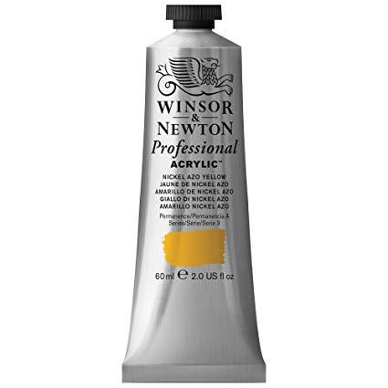 Winsor & Newton - Artists' Acrylic Color - 60ml Tube - Nickel Azo Yellow