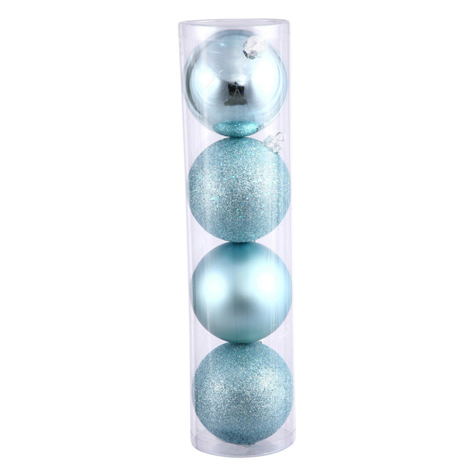 "Vickerman 2.4"" Baby Blue 4-Finish Ornament Assortment, Set of 24"