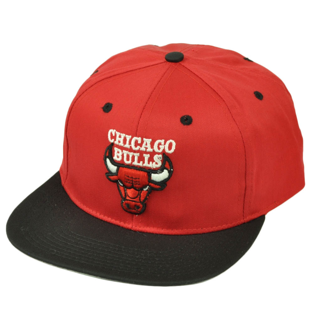 Chicago Bulls Dead Stock Vintage Snapback Hat Cap Old School Blck Red Basketball
