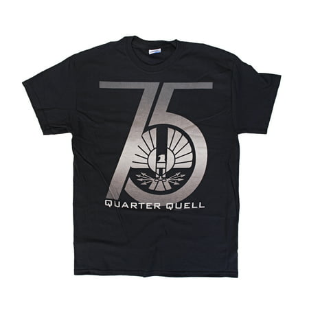 The Hunger Games 2: Catching Fire 75th Quarter Quell Mens Black T-Shirt | XL](Hunger Games Outfits)