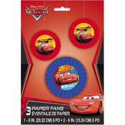 Disney Cars Tissue Paper Fan Decorations, 3ct