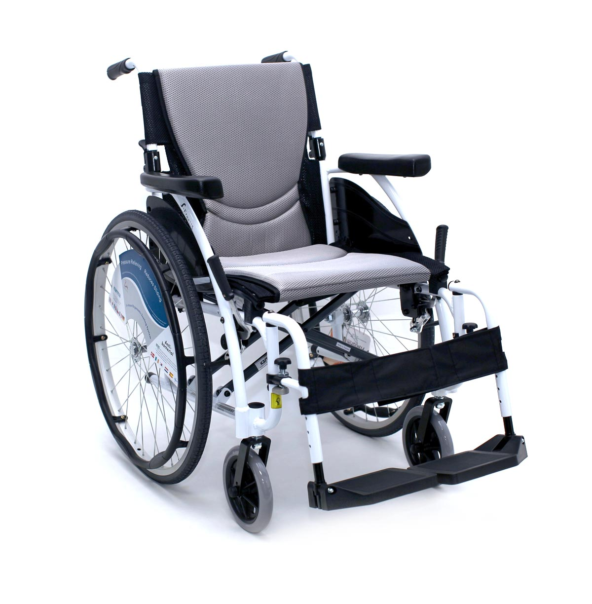 "Karman Healthcare S-Ergo Alpine White just 25 lbs Ultralight White Wheelchair, 18"" Seat Width"