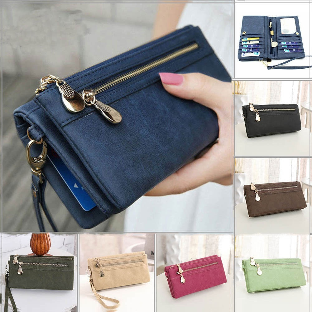 Women Lady Clutch Leather Wallet Long Card Holder Phone Bag Case Purse Handbag Walmart Canada