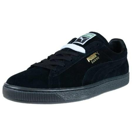 ccd0d7fc08ae09 Puma - Puma Suede Classic Ice Mens Black Gold Sneakers - Walmart.com