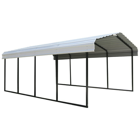 Shelterlogic Steel Carport 12x20x7 Blackeggshell Walmart