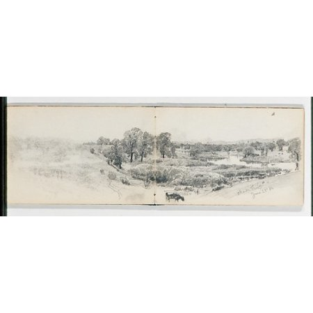 Trees On The Bank Of The Charles River June 22 86  From Sketchbook Vii  Poster Print By William Trost Richards  American Philadelphia Pennsylvania 1833   1905 Newport Rhode Island   18 X 24