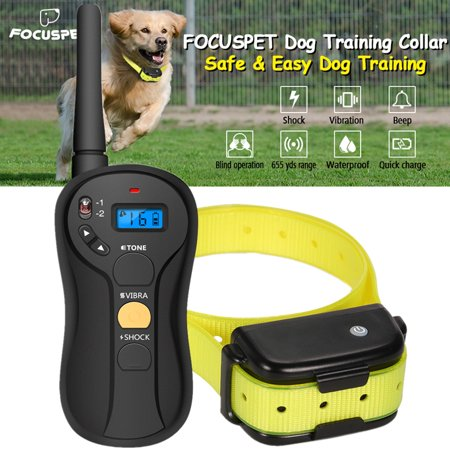 Focuspet Dog Training Collar with 656 Yard Remote,16 Levels, 100% Waterproof and Rechargeable Universal for Small Medium & Large