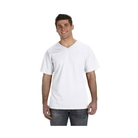 Fruit Of The Loom Men's 1X1 Rib Collar V-Neck T-Shirt, Style 39VR
