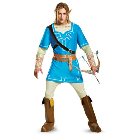 The Legend of Zelda: Link Breath Of The Wild Deluxe Adult Costume Plus](Link Halloween Costume Zelda)