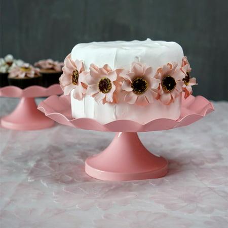 Large Cake Stands (Wedlies 3 Sizes Round Cake Cupcake Stand Birthday Wedding Party Iron Display Holder)