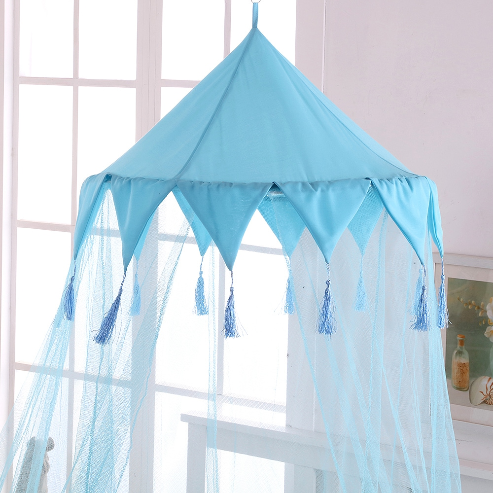 Epoch Hometex, Inc. Sheer Harlequin Collapsible Hoop Kids Bed Canopy