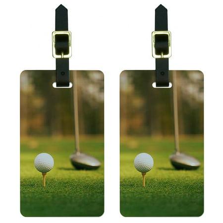 Club Tag - Graphics and More Golf Ball Club - Golfing Luggage Tag Set