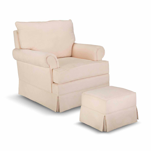 Upholstered Chair And Ottoman thomasville kids grand royale upholstered swivel glider and