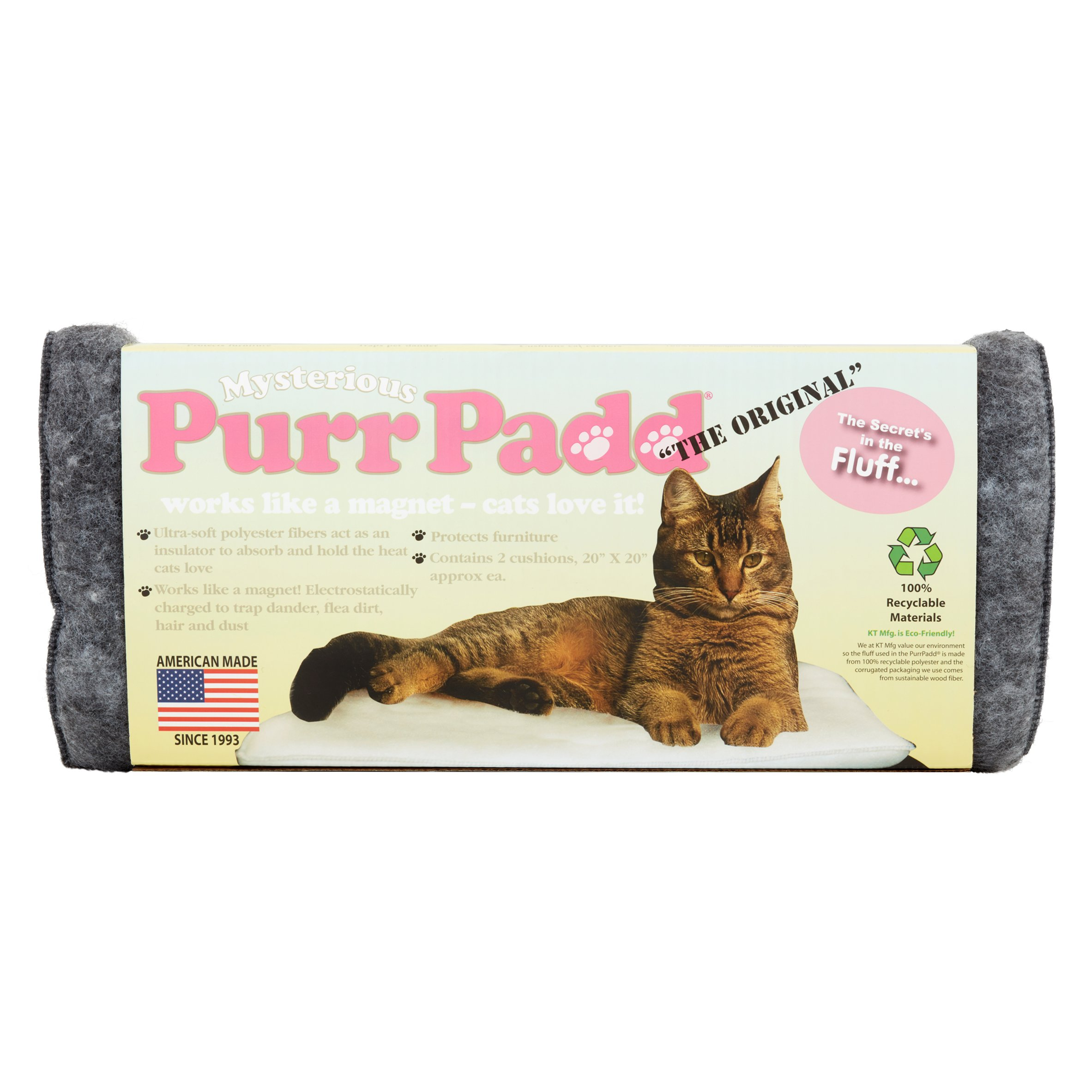 KT Manufacturing Purr Padd Eco Friendly Cat Bed (Set of 2)