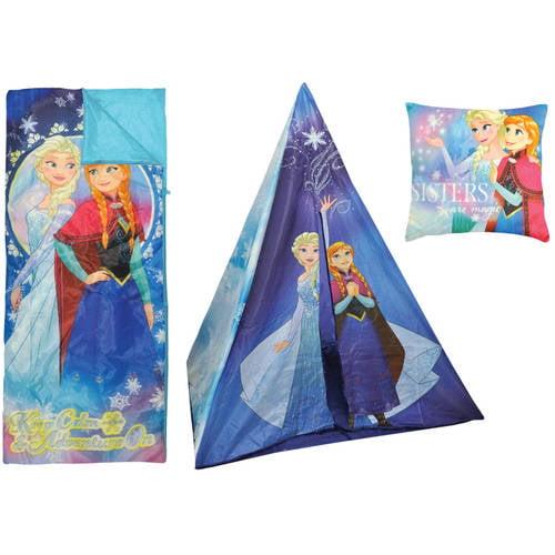 Disney Frozen Teepee Play Tent and Slumber Bag with Bonus Pillow