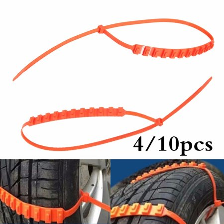 8pcs Car Snow Chains Strong Durable All Season Anti-Skid Car, SUV, and Pick Up Patterned Tire Chains for Emergencies and Road Trip Tyre Tire Beef Tendon Vehicles Wheel Nylon