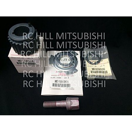 Style Engine Bolt (Genuine OEM Mitsubishi Timing Belt Lower Crankshaft Sprocket Gear Pulley, Sensor Position Trigger Plate, Spacer, and Bolt Montero & Sport 3.0L, 3.5L 3.8L Engines PKSPROCKET1 )