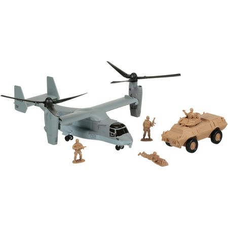 New-Ray Military Mission Helicopter + Tank Set 5 pc Box - New Ray Helicopter