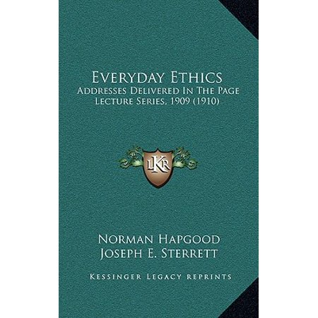 1910 Series (Everyday Ethics : Addresses Delivered in the Page Lecture Series, 1909 (1910))