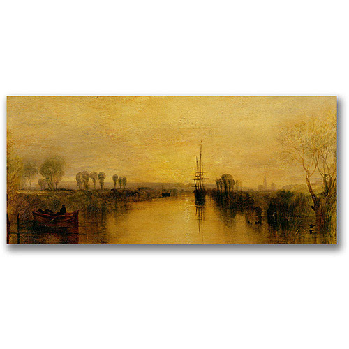 "Trademark Fine Art ""Chichester Canal, 1829"" Canvas Wall Art by Joseph Turner"