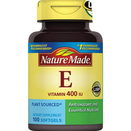 Nature Made 100% naturel vitamine E liquide Gélules, 100CT