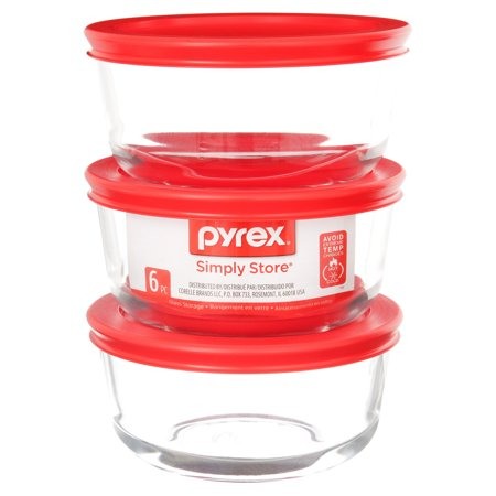 Pyrex Simply Store Round Glass Bakeware, 2 Cup, Set of 3
