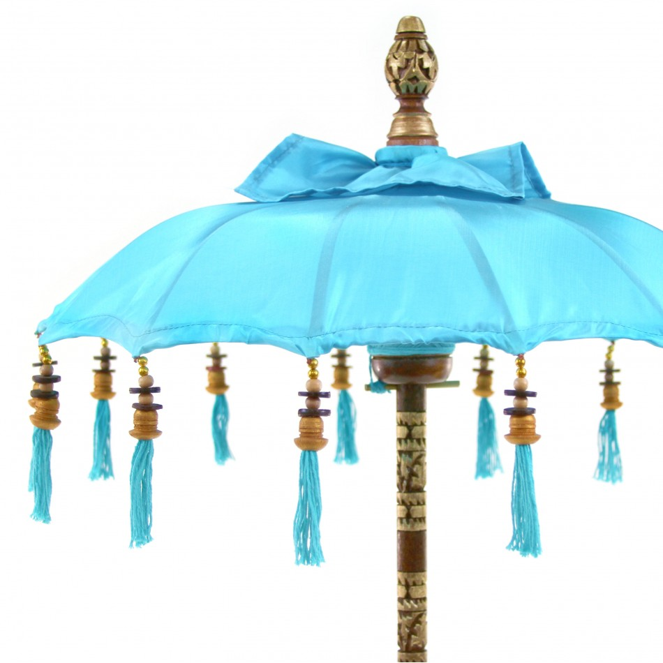 Koyal Wholesale Bali Umbrella Stand, Turquoise 34-Inch Tall Moroccan Style Home Decor Items, Free Standing Umbrella