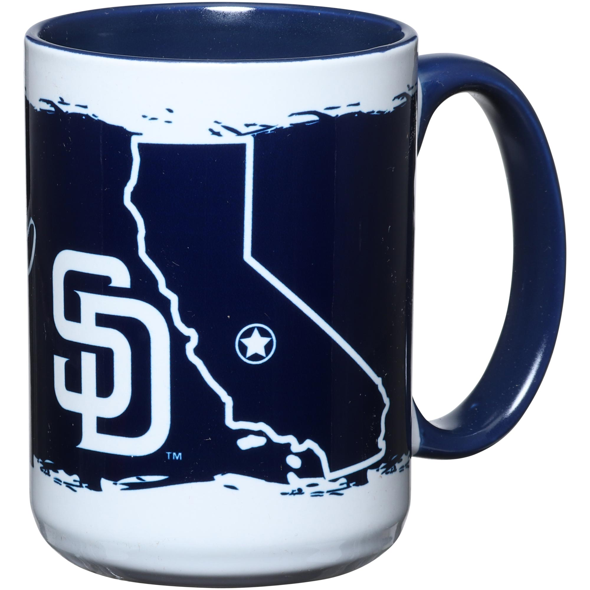 San Diego Padres 15oz. It's Your State Of Mind Mug - No Size