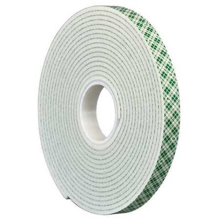 """3M 4008 3M 4008 Double Coated Foam Tape 1"""" x 5yd, White, 1/8"""" thick"""