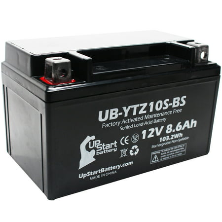 Replacement 2007 Yamaha YZF-R1 1000CC Factory Activated, Maintenance Free, Motorcycle Battery - 12V, 8.6Ah,