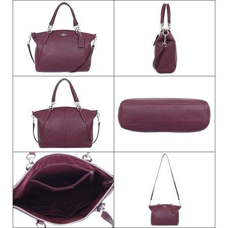 ... COACH F36675 Small KELSEY SATCHEL In Pebbled Leather IMITATION  SILVERBURGURNDY - Walmart.com ... 391b5c167c