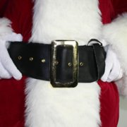 "60"" Deluxe Multipurpose Black Halloween Pirate   Santa Belt Christmas Accessory by Fun World"