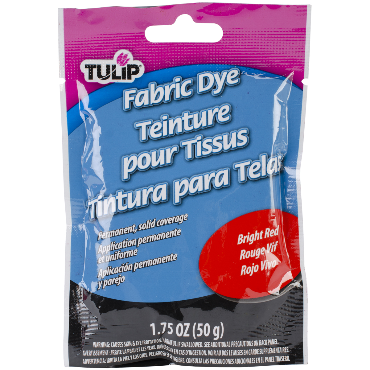 Tulip Permanent Fabric Dye 1.76oz-Hot Bright Red