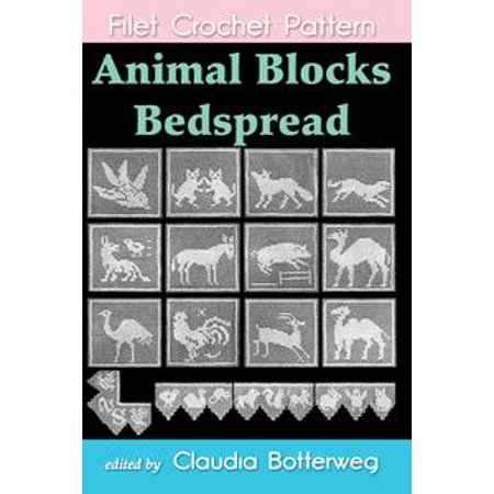 Animal Blocks Bedspread Filet Crochet Pattern - - Halloween Filet Crochet Patterns