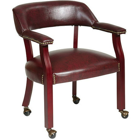 Traditional Guest Chair with Casters, Jamestown
