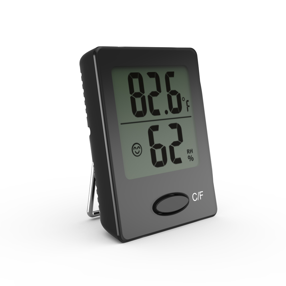 Baldr Mini Thermo-Hygrometer, Black by Baldr