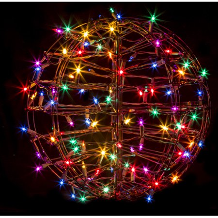 crab pot christmas trees grapevine fold flat sphere with 100 incandescent lights walmartcom - Christmas Sphere Lights