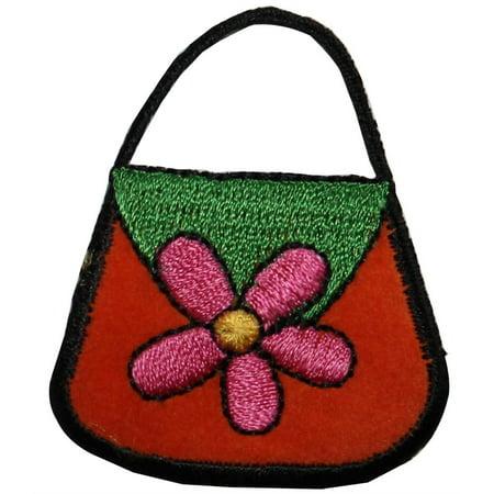 ID 8349 Felt Flower Purse Patch Hand Bag Fashion Embroidered Iron On Applique](Felt Flower Crown)