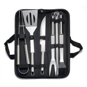 Stainless steel barbecue tool set Portable Outdoor Household Barbecue Sets 9 PCS