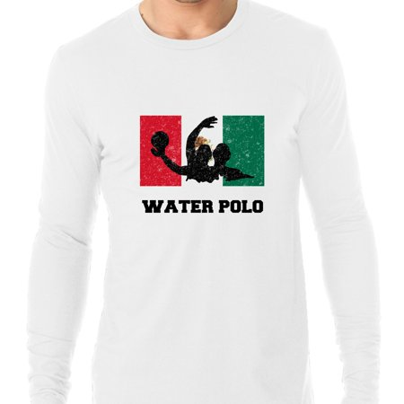 Mexico Olympic - Water Polo - Flag - Silhouette Men's Long Sleeve T-Shirt