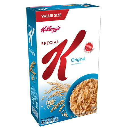 (2 Pack) Kellogg's Special K Breakfast Cereal, Original, 18