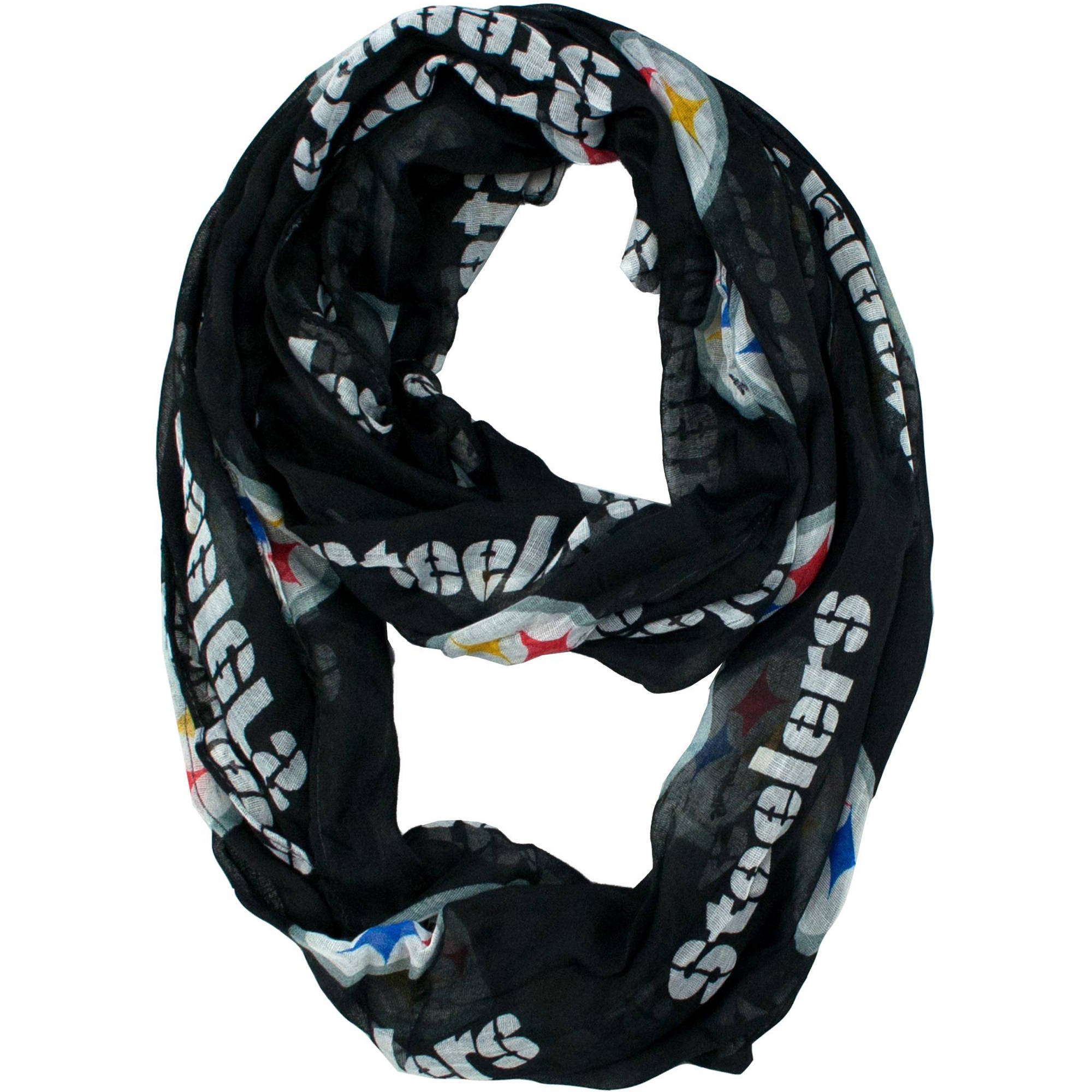 Little Earth - NFL Sheer Infinity Scarf, Pittsburgh Steelers