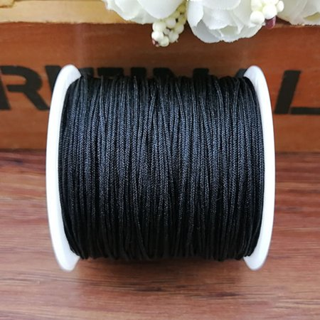 AkoaDa 0.8mm Nylon Cord Thread Chinese Macrame Rattail Bracelet Braided String Usable