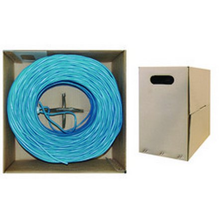 - Bulk Dual Cat5e and Dual RG6 Quad Shield with Blue Outer Jacket, Spool, 500 foot