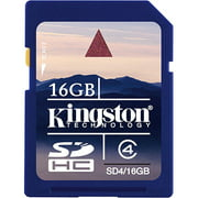 Kingston 16GB SDHC Memory Card, Class 4