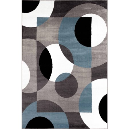 World Rug Gallery Modern Circles Area Rug ()
