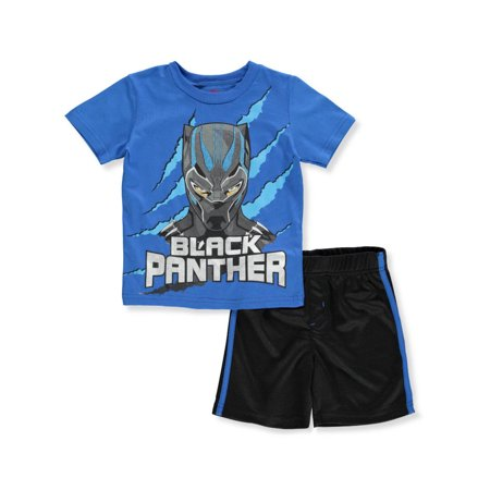 Black Panther Boys' 2-Piece Shorts Set Outfit](Avengers Outfit)