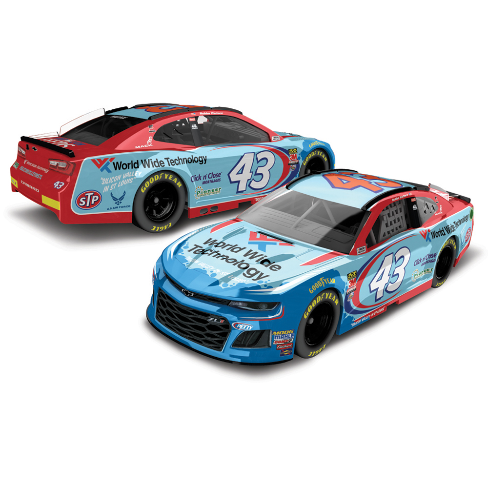 Bubba Wallace Action Racing 2018 #43 World Wide Technology 1:64 Regular Paint Die-Cast Chevrolet Camaro ZL1 - No Size