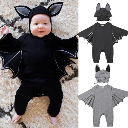 Newborn Infant Baby Boy Cosplay Bat Romper Bodysuit Jumpsuit Clothing Outfits - Baby Cosplay Ideas
