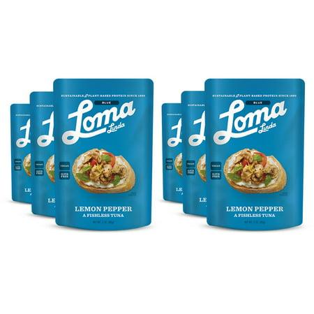 Loma Linda Blue - Plant-Based Meal Solution - Lemon Pepper Fishless Tuna (3 oz.) (Pack of - Pepper Tuna